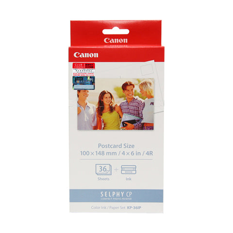 [VALUE] Canon Color Ink Cassette + 4R Paper Set (36 Sheets) (for CP1200 / CP910)