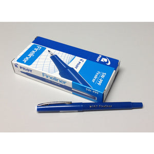 Pilot 0.4mm Fineliner Pen (12pcs) - Blue Ink [SW-PPF]