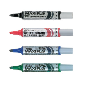 [Prime Day] Pentel Black,Blue,Green,Red Medium Bullet Point Whiteboard Markers (4pcs) - Assorted