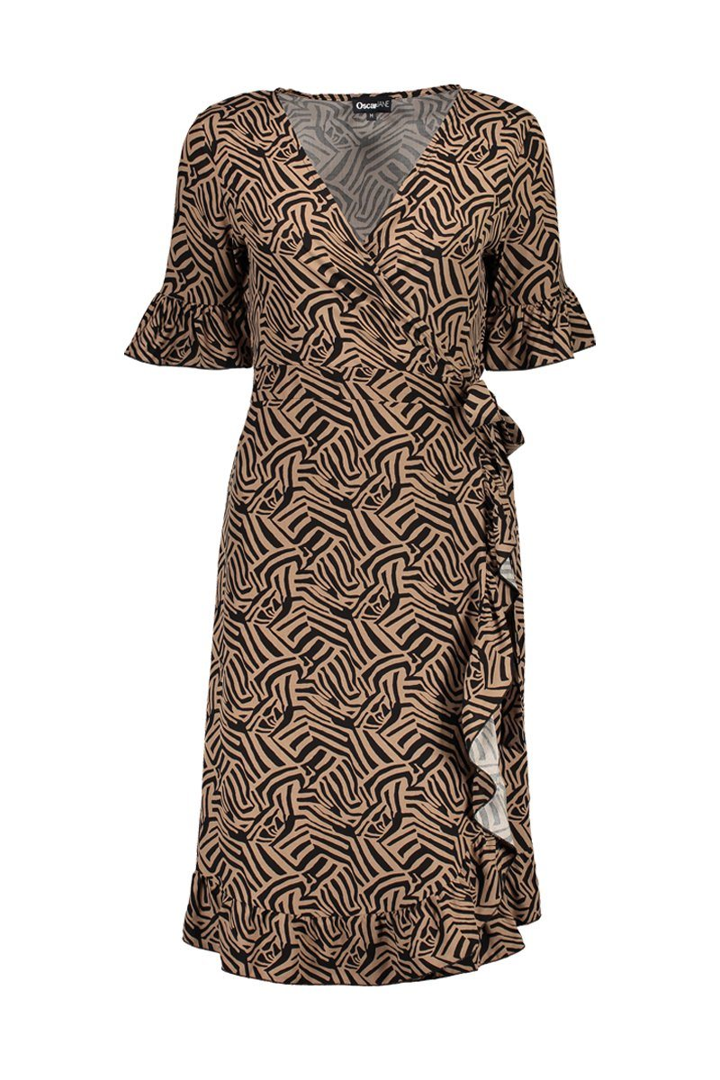 Dress Eva camel Zebra