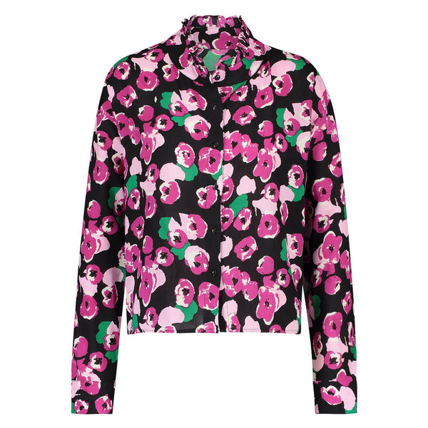 Blouse Puck flower black/pink Blouses Summer 2021