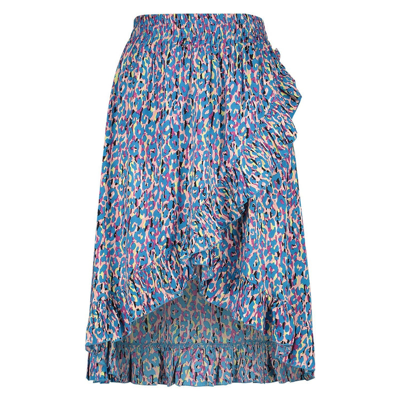 Skirt Annika Leopard Blue