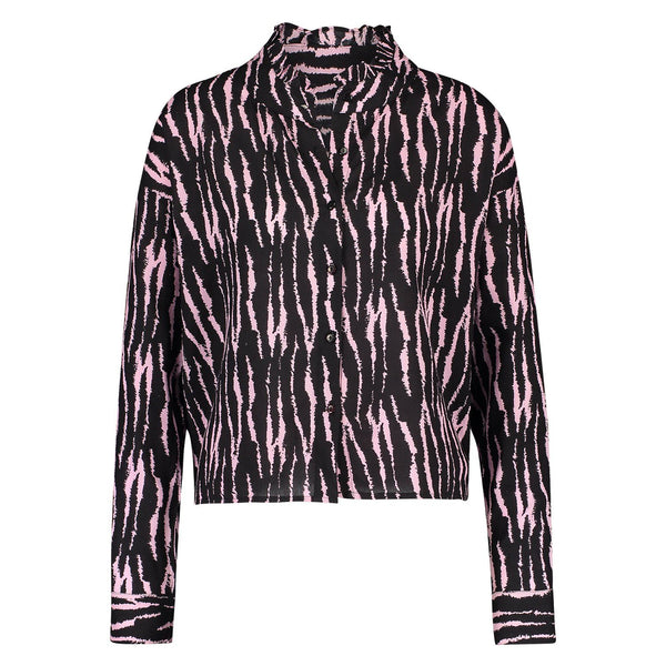 Blouse Puck tiger black/pink Blouses Summer 2021