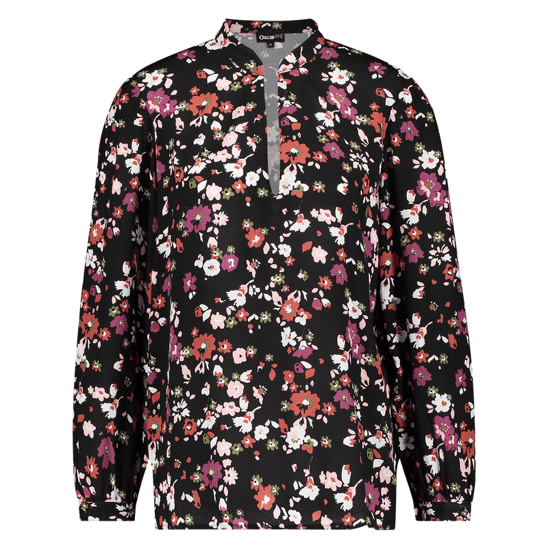 Blouse Manuela big flower black Blouses Oscar Jane W 2020