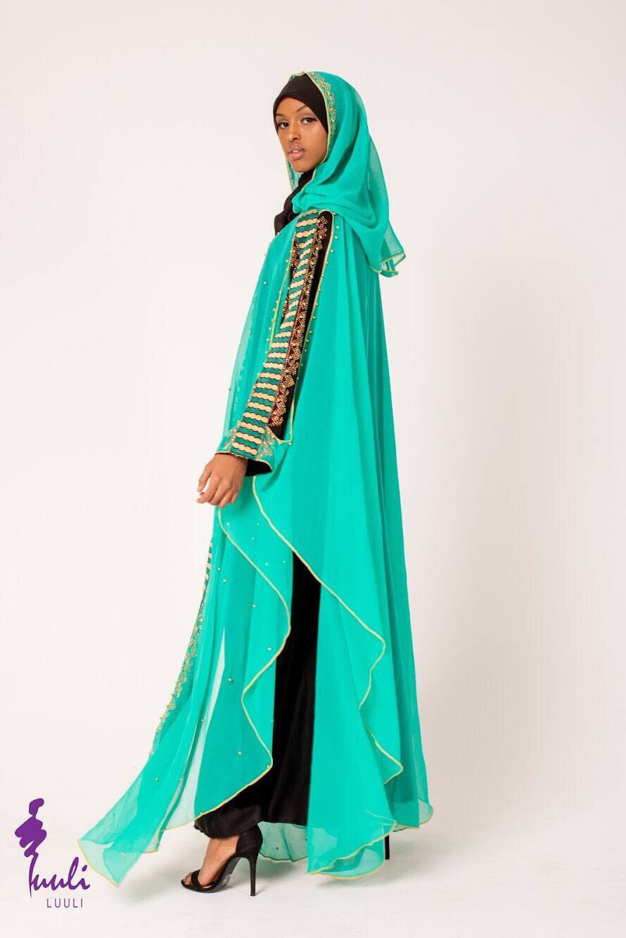 Check me out drape abaya