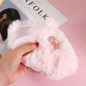 Luxury Plush Rabbit Fur Baby Pink, , Real Cool Case, Real Cool Case - Real Cool Case