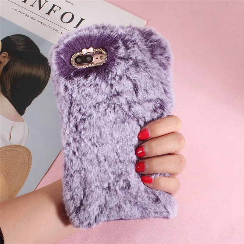 Luxury Plush Rabbit Fur Purple, , Real Cool Case, Real Cool Case - Real Cool Case