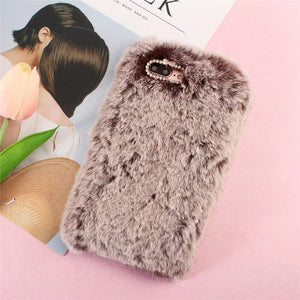 Luxury Plush Rabbit Fur Brown, , Real Cool Case, Real Cool Case - Real Cool Case