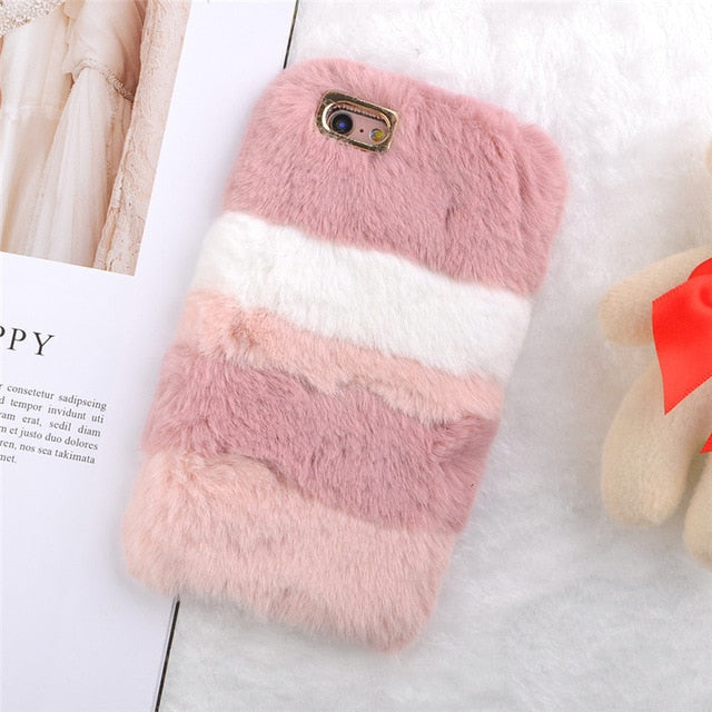 Plush Stripe Pink, , Real Cool Case, Real Cool Case - Real Cool Case