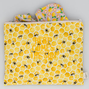 Beach Pouch - Bee Lisbon Yellow