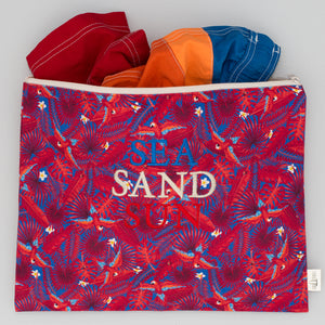 Beach Pouch - Palm London Red