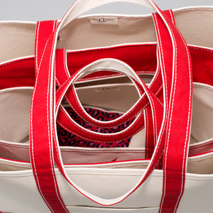 Classic Tote Bag - London Red - Stack