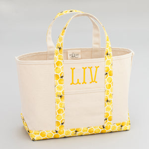 Limited Tote Bag - Bee Lisbon Yellow - Front