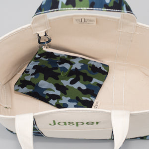 Limited Tote Bag - Camo Falsterbo Ocean - Inside