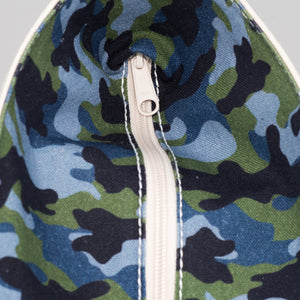 Limited Tote Bag - Camo Falsterbo Ocean - Zip