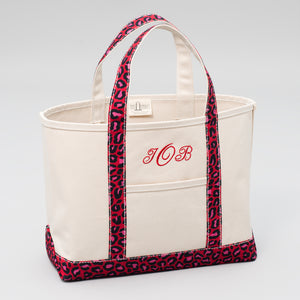 Limited Tote Bag - Leopard London Red - Front