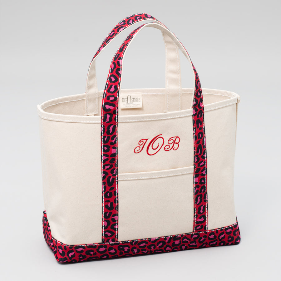 Limited Tote Bag - Leopard London Red - Sizes