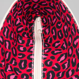 Limited Tote Bag - Leopard London Red - Zip