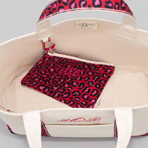 Limited Tote Bag - Leopard London Red - Inside