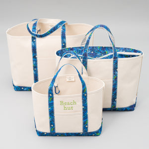 Limited Tote Bag - Palm Chefchaouen Blue - Sizes