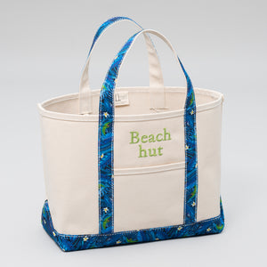 Limited Tote Bag - Palm Chefchaouen Blue - Front