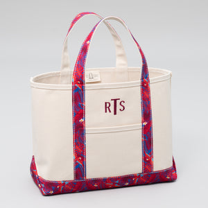 Limited Tote Bag - Palm London Red - Front