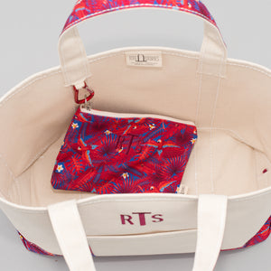 Limited Tote Bag - Palm London Red - Inside