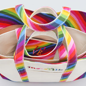 Limited Tote Bag - Rainbow - Stack