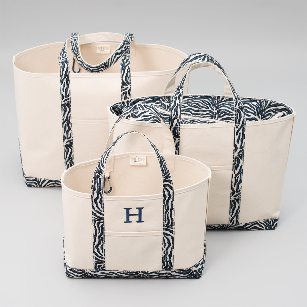 Limited Tote Bag - Zebra Falsterbo Ocean - Sizes