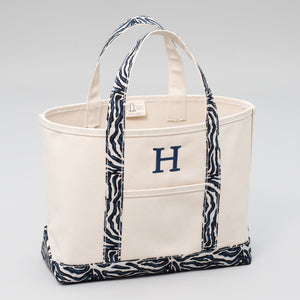 Limited Tote Bag - Zebra Falsterbo Ocean - Front