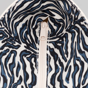Limited Tote Bag - Zebra Falsterbo Ocean - Zip