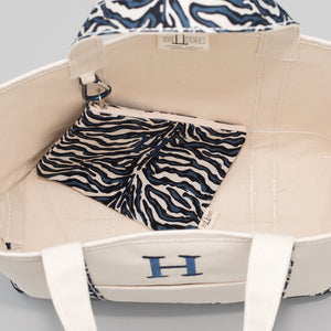 Limited Tote Bag - Zebra Falsterbo Ocean - Inside