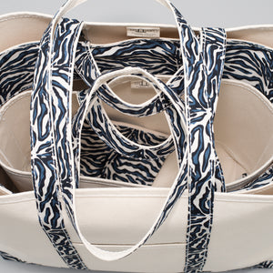 Limited Tote Bag - Zebra Falsterbo Ocean - Stack