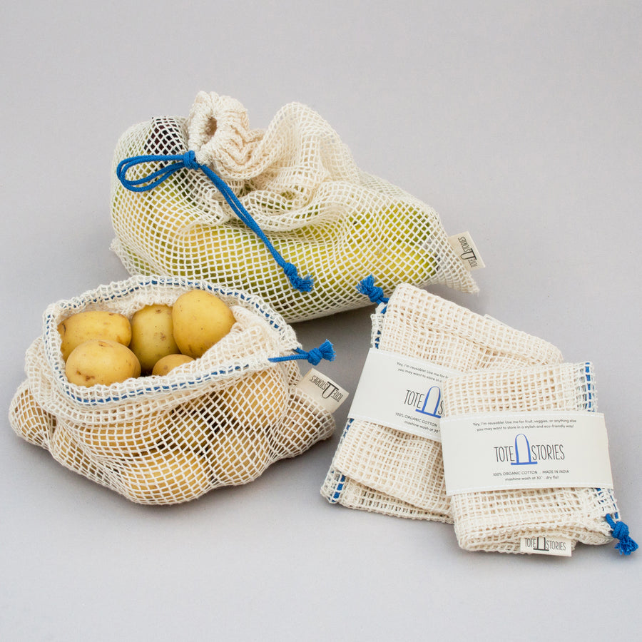 Mesh produce bag - Chefchaouen blue