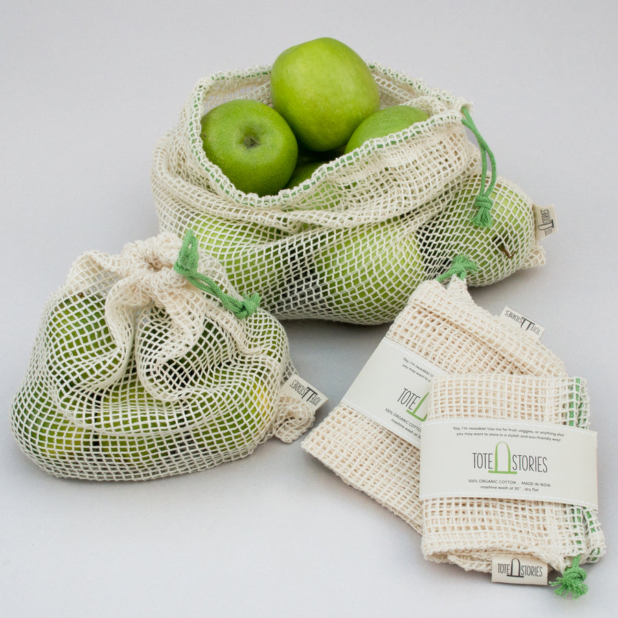 Mesh produce bag - Kradan Coconut