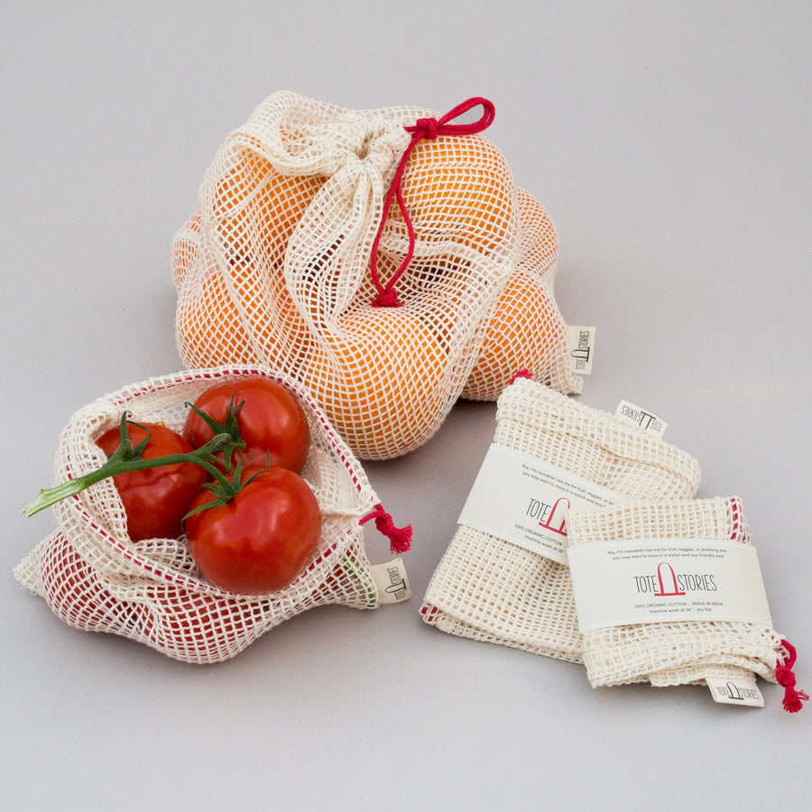 Mesh produce bag - London Red