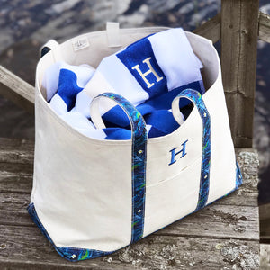 Limited Tote Bag - Palm Chefchaouen Blue