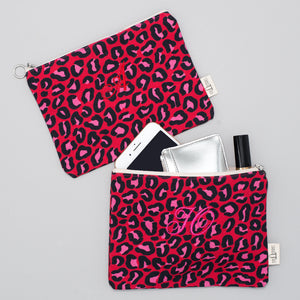 Pouch - Leopard London Red