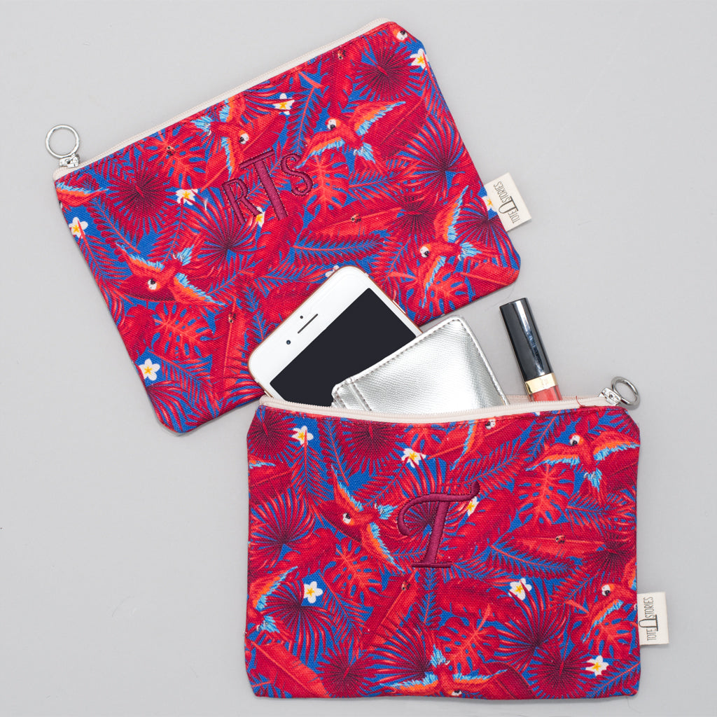 Pouch - Palm London Red