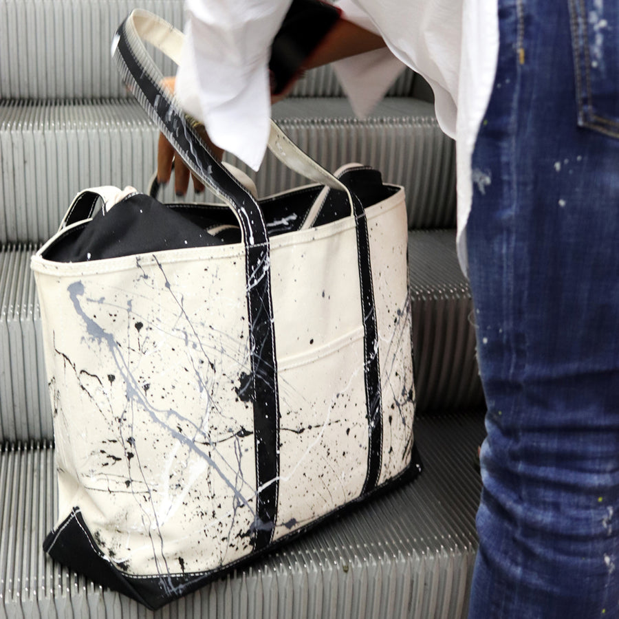 Paint Splatter Tote - Calcutta Black - Sizes