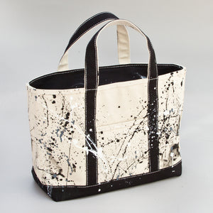 Paint Splatter Tote - Calcutta Black - Front