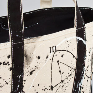Paint Splatter Tote - Calcutta Black - Numbered