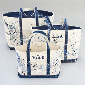 Paint Splatter Tote - Falsterbo Ocean - Sizes