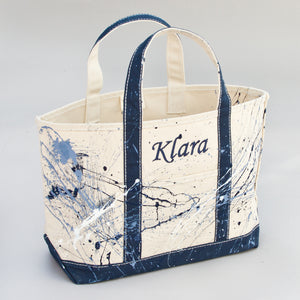 Paint Splatter Tote - Falsterbo Ocean - Front