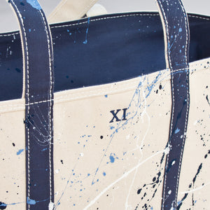 Paint Splatter Tote - Falsterbo Ocean - Numbered