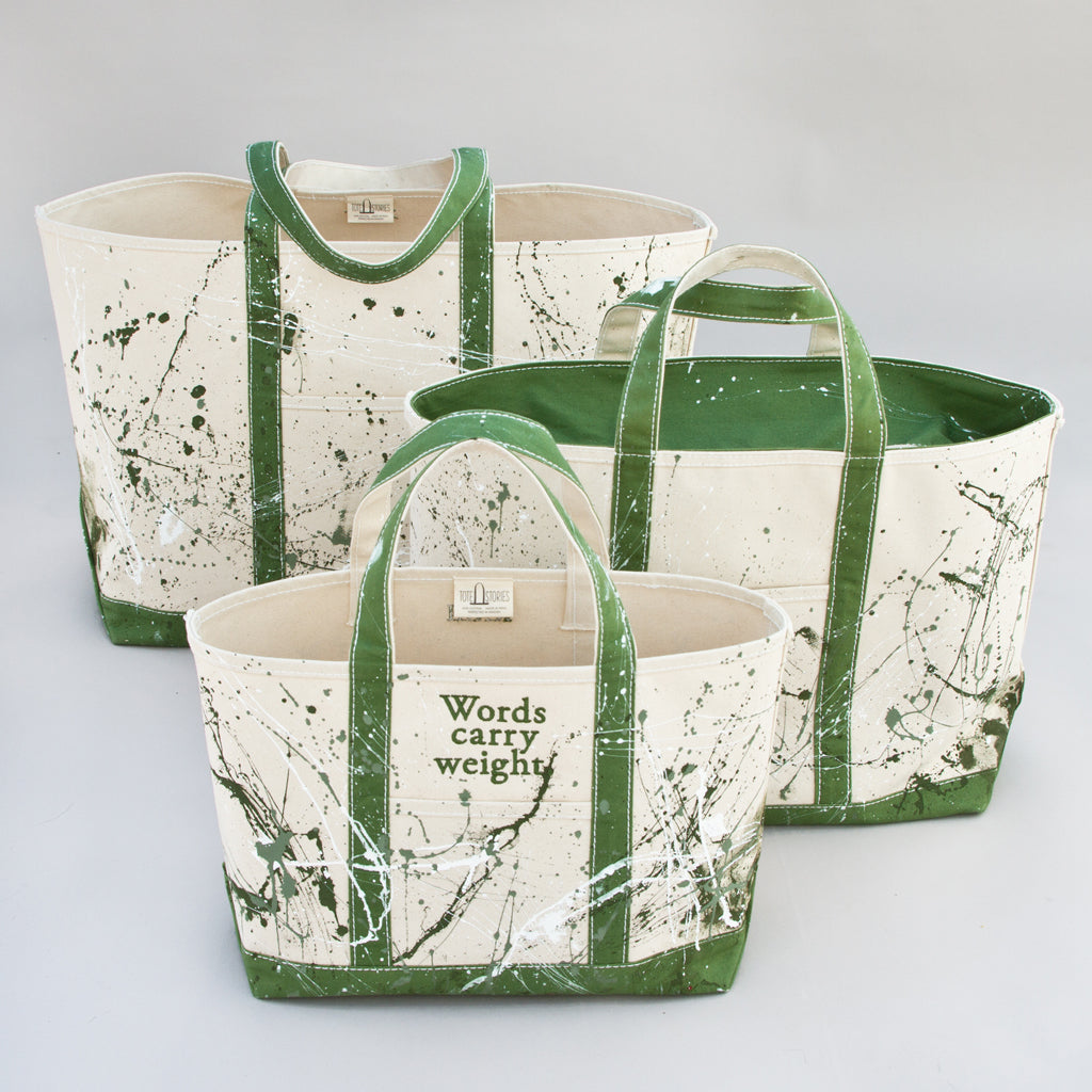 Paint Splatter Tote - Hamneda Forest - Sizes