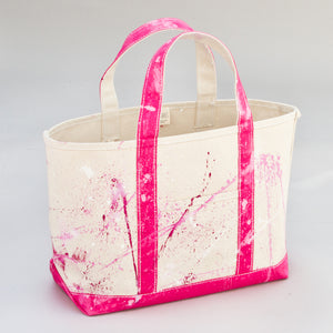 Paint Splatter Tote - Jaipur Pink - Front
