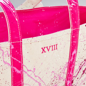Paint Splatter Tote - Jaipur Pink - Numbered