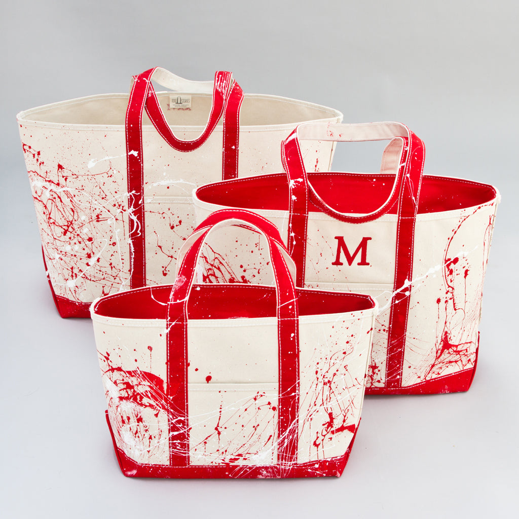 Paint Splatter Tote - London Red - Sizes