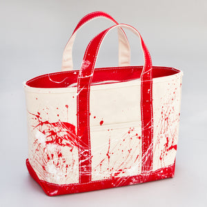 Paint Splatter Tote - London Red - Front